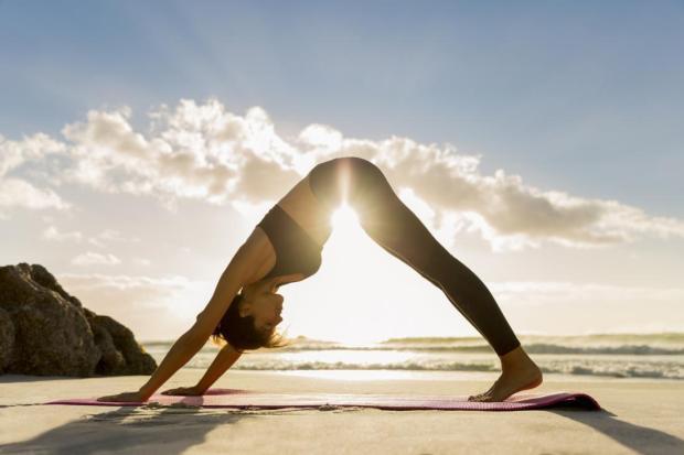 sparkly yoga