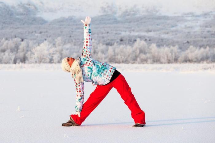Јога во зима