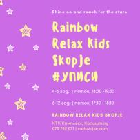 Во тек се уписи во циклусот Relax Kids работилници за деца од 6 до 12 години! ✨✨✨ Relax Kids работилниците се одвиваат еднаш неделно, (секој петок од 17:10-18:10h во центарот за личен развој Радувај се!). Се работи во малечки групи (максимум десет дечиња). Заради ограничениот број на посетители на работилниците Ве молиме резервирајте го Вашето место навреме. Пријавување и детални информации за работилниците: 075 782 071 или на raduvajse@gmail.com. Добредојдовте на волшебното место каде што сите можат да бидат она што се и каде што волшепствата никогаш не престануваат! Место каде што сите деца се сакани, поддржани, сигурни и сфатени и каде што можат преку опуштање и игра да се забавуваат и учат на еден сосема поинаков начин. Место каде родителите можат да уживаат гледајќи како нивните деца растат во позитивни и со самодоверба исполнети личности, сигурни во себе и исполнети со љубов и среќа во сè што прават. Relax Kids работилниците се состојат од седум чекори преку кои децата учат да се смират, опуштат и фокусираат. Работилниците вклучуваат танц и движење, глума и релаксација, истегнување, заемна масажа, дишење, афирмативни искази, свесно внимание и визуелизации. ✨ RELAX KIDS ПРОГРАМИТЕ ИМ ПОМАГААТ НА ДЕЦАТА: да ги совладаат основните техники на опуштање и смалување на стрес секојдневно да користат техники за опуштање да ја ценат предноста на опуштањето да станат свесни за сопствените емоции и да научат техники кои ќе им помогнат да се справат со нив да се забавуваат додека вежбаат и учат да се опуштат да развијат свест за сопственото тело и просторот да стекнат ментална и физичка кондиција да научат вештини за подобра концентрација да го подобрат своето однесување да имаат подобра слика за себеси и поголемо самопочитување да ги поправат своите резултати на училиште сами себеси да се утешат, да станат поодлучни ✨ ПРЕДНОСТИ НА RELAX KIDS ПРОГРАМИТЕ ✨ НА ЕМОЦИИТЕ И ОДНЕСУВАЊЕТО: смирува, стишува и создава бистар ум ја зголемува концентрацијата поттикнува позитивно разм
